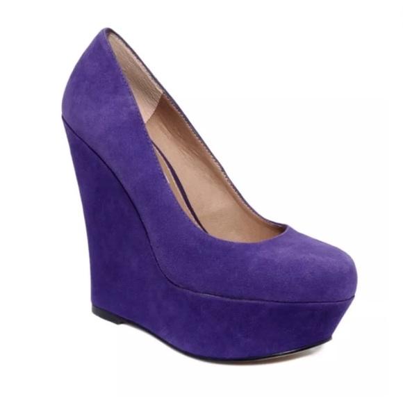 dcb136f8381 Steve Madden Pammyy Purple Platform Wedge Heels 7M